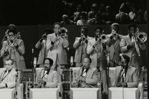 The Brass Section of the Count Basie Orchestra, Royal Festival Hall, London, 18 July 1980 by Denis Williams