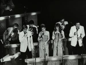 The New Squadronaires in Concert at the Forum Theatre, Hatfield, Hertfordshire, 1984 by Denis Williams