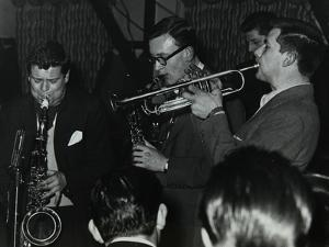 The Tubby Hayes Sextet Playing at a Modern Jazz Night at the Civic Restaurant, Bristol, 1955 by Denis Williams