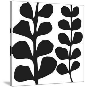 Maidenhair (black on white) by Denise Duplock