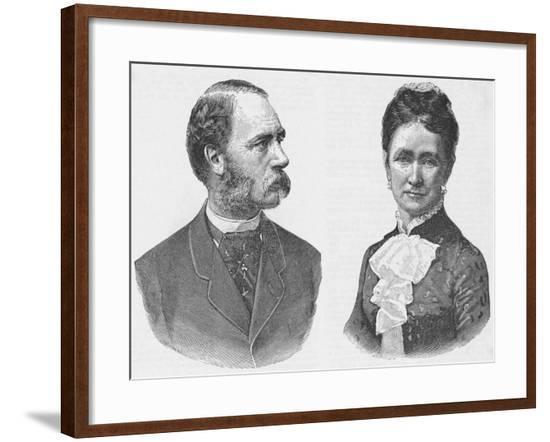 Denmark's King Christian IX and Queen Louise--Framed Giclee Print