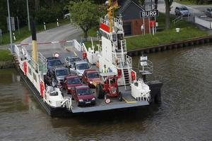 A Car Ferry on the Kiel Canal, Germany by Dennis Brack