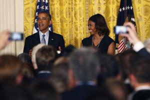 Barack and Michelle Obama Host a Reception to Observe LGBT Pride Month by Dennis Brack