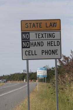 No Texting Sign on Us Highway 1 in Delaware by Dennis Brack
