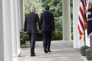 President Barack Obama with Vice President Joseph Biden, Washington DC by Dennis Brack