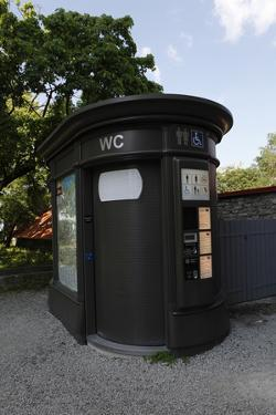 Restroom for a Fee Unit in the Old Town Section of Tallinn, Estonia by Dennis Brack