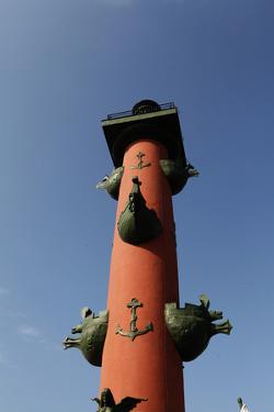Rostral Columns, Spit of Vasilyevsky Island, St. Petersburg, Russia by Dennis Brack