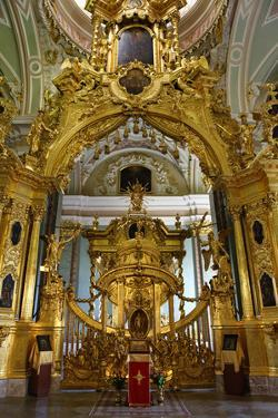 The Alter of the Peter and Paul Cathedral in St. Petersburg, Russia by Dennis Brack