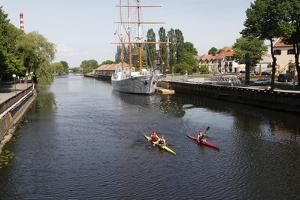 The Canals of Klaipeda, Lithuania by Dennis Brack