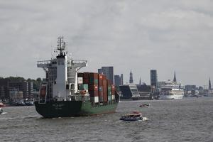The Harbor Area of Hamburg, Germany by Dennis Brack