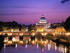 Sant'Angelo Bridge over Tiber River by Dennis Degnan