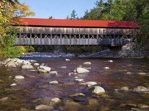 Covered Bridge over the Swift River, White Mountains, New Hampshire, USA by Dennis Flaherty