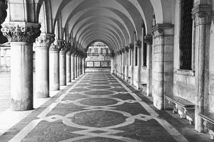 Italy, Venice. Columns at Doge's Palace by Dennis Flaherty