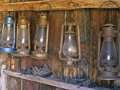 Lanterns Inside Boone's General Store, Abandoned Mining Town of Bodie, Bodie State Historic Park