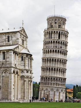 Leaning Tower Next to the Duomo Pisa, Pisa, Italy by Dennis Flaherty