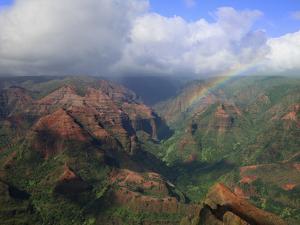 Rainbow over Waimea Canyon, Kauai, Hawaii, USA by Dennis Flaherty