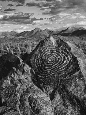 USA, Arizona, Saguaro National Park. Petroglyphs on Signal Hill by Dennis Flaherty