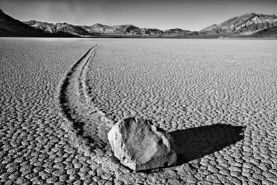 USA, California, Death Valley NP. Sliding Rock at the Racetrack