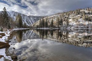 USA, California, Sierra Nevada Range. Spring Snow at North Lake by Dennis Flaherty