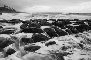 USA, Hawaii, Kauai. Rocky Beach by Dennis Flaherty