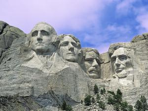 View of Mount Rushmore National Monument Presidential Faces, South Dakota, USA by Dennis Flaherty