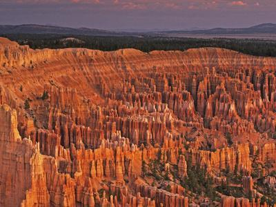 View of the Hoodoos or Eroded Rock Formations in Bryce Amphitheater, Bryce Canyon National Park