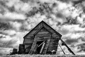 Washington. Abandoned Leaning Schoolhouse in Palouse Farm Country by Dennis Flaherty