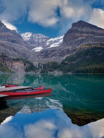 Red Canoes by Dennis Frates