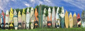 Surfboard Fence by Dennis Frates