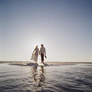 Wedding Couple on a Beach by Dennis Hallinan