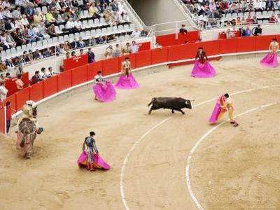 Bullfight at Placa De Braus Monumental, Barcelona, Spain by Dennis Johnson