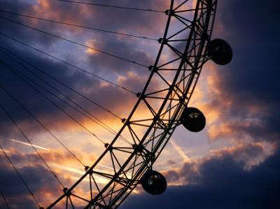 Detail of London Eye at Sunset, London, United Kingdom by Dennis Johnson