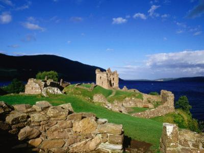 Urquhart Castle Remains on Shores of Loch Ness, Drumnadrochit, United Kingdom by Dennis Johnson