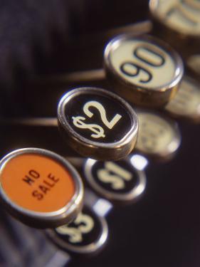Close-up of Cash Register Keys by Dennis Lane
