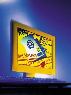 E-Mail Message on Computer Monitor by Dennis Lane