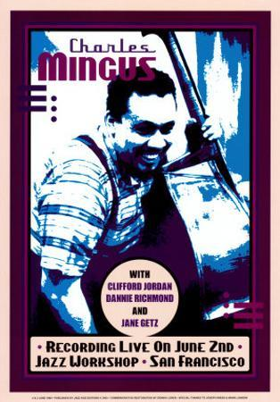 Charles Mingus Recording Live at the Jazz Workshop, San Francisco by Dennis Loren