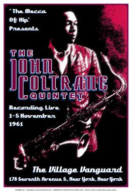 John Coltrane Quintet at the Village Vanguard, New York City, 1961 by Dennis Loren