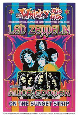 Led Zeppelin, Alice Cooper by Dennis Loren