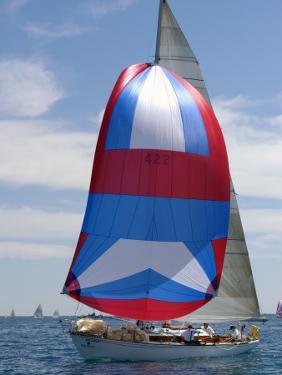 Sailboat Race, Pt Huron to Mackinac Island, MI by Dennis Macdonald