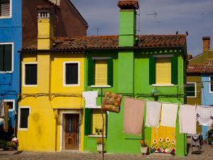 Colorful Houses and Laundry by Dennis Walton