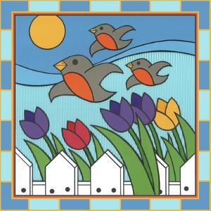 Tulips 3 with Melody the Songbird by Denny Driver
