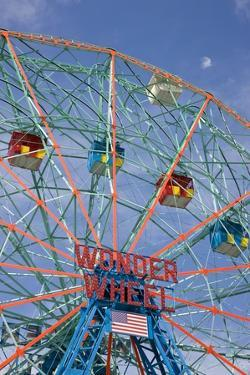 Deno's Wonder Wheel Amusement Park at Coney Island in Brooklyn