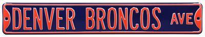 Denver Broncos Ave Steel Sign