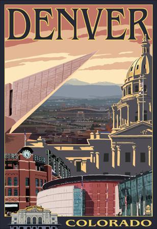 Denver, Colorado - Skyline View