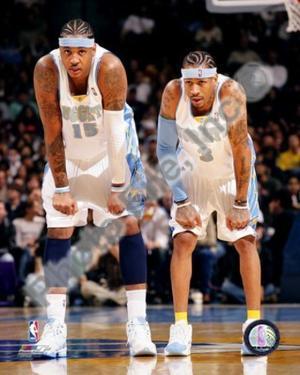 Denver Nuggets - Allen Iverson, Carmelo Anthony Photo