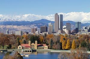 Denver Park Lake and Rockies