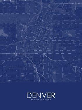 Denver, United States of America Blue Map