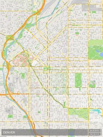 Maps Of Colorado Posters At AllPosterscom - Us map denver