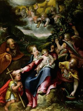Ng 2447 Holy Family with St. John the Baptist in a Landscape, C.1593-94 by Denys Calvaert