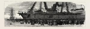 Departure of the Troop Ship Deccan from Portsmouth, the Camel Corps for the Nile Expedition, 1884